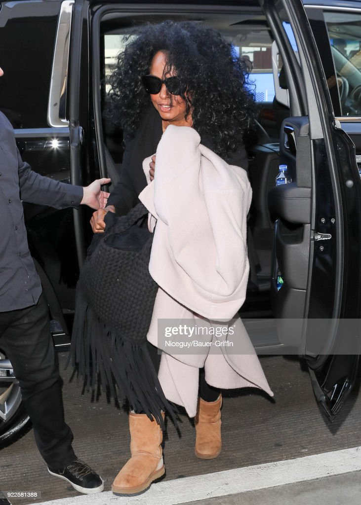 Diana Ross is seen on February 21, 2018 in Los Angeles, California.