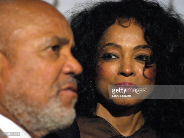 Diana Ross listens to Berry Gordy talk about her
