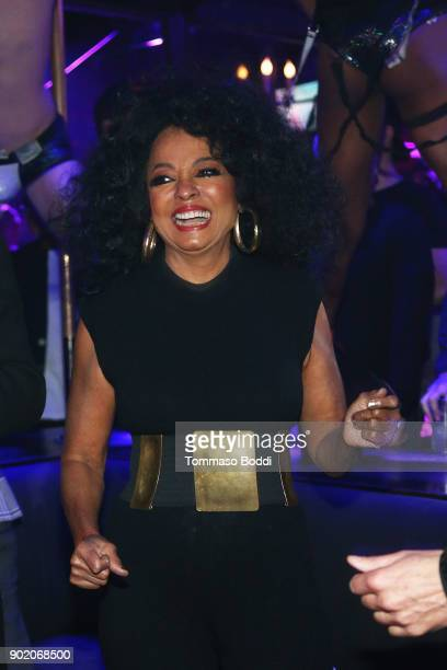 Diana Ross Makes Surprise Appearance At The Abbey To Greet Fans And Promote Her New Remix Of 'Ain't No Mountain High Enough' at The Abbey on January...