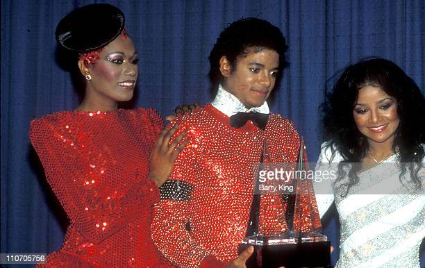 Diana Ross Michael Jackson during 1981 American Music Awards at Shrine Auditorium in Los Angeles California United States