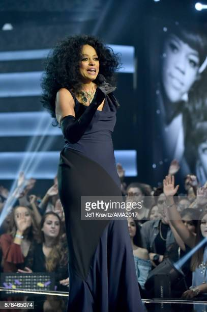 Diana Ross onstage during the 2017 American Music Awards at Microsoft Theater on November 19 2017 in Los Angeles California