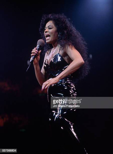 Diana Ross performing on stage circa 1994.
