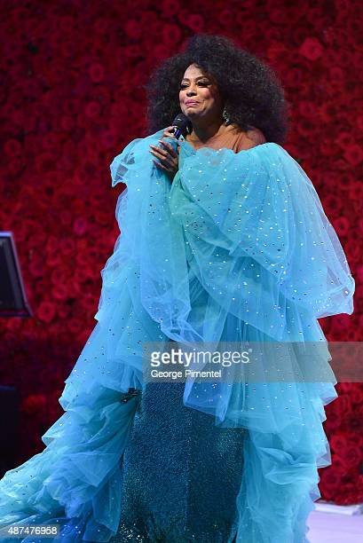 Diana Ross performs at the 2015 Toronto International Film Festival 'AMBI Gala' at the Four Seasons Hotel on September 9th 2015 in Toronto Canada