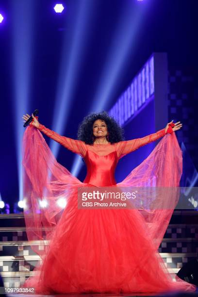 Diana Ross performs at THE 61ST ANNUAL GRAMMY AWARDS broadcast live from the STAPLES Center in Los Angeles Sunday Feb 10 on the CBS Television Network