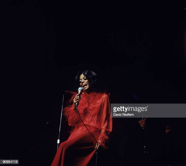Diana Ross performs on stage as part of the Newport Jazz Festival held in New York City in July 1974