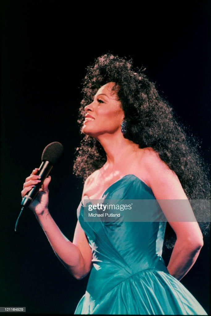 Diana Ross performs on stage at Ahoy, Rotterdam, Netherlands, 17th October 1994.