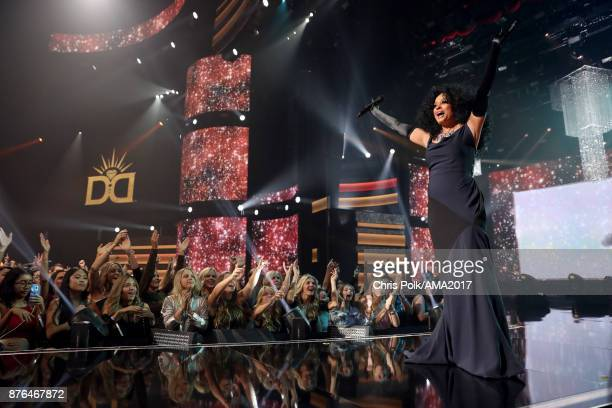 Diana Ross performs onstage during the 2017 American Music Awards at Microsoft Theater on November 19 2017 in Los Angeles California