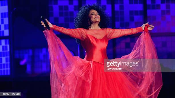 Diana Ross performs onstage during the 61st Annual GRAMMY Awards at Staples Center on February 10 2019 in Los Angeles California