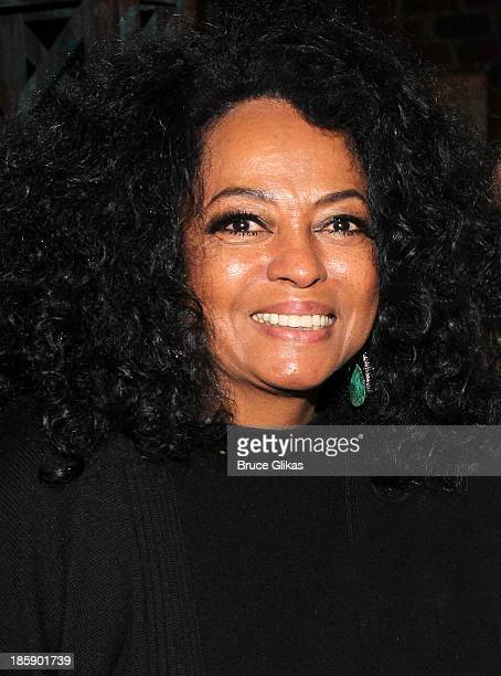 Diana Ross poses backstage at 'Kinky Boots' on Broadway at The Al Hirshfeld Theater on October 25 2013 in New York City