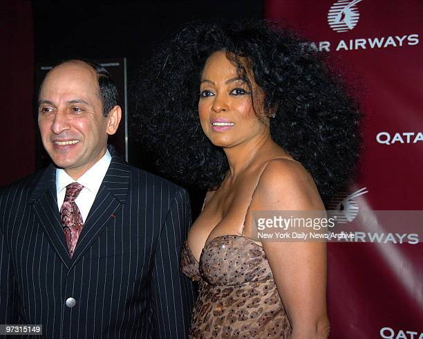 Diana Ross with Airline CEO Akbar Al Baker at Qatar Airways Celebration Gala held at The Frederick P Rose Hall at Lincoln Center for their flights to...