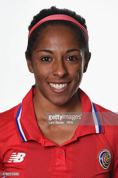Diana Saenz of Costa Rica poses during the FIFA Women's World Cup 2015 portrait session at Sheraton Le Centre on June 6 2015 in Montreal Canada