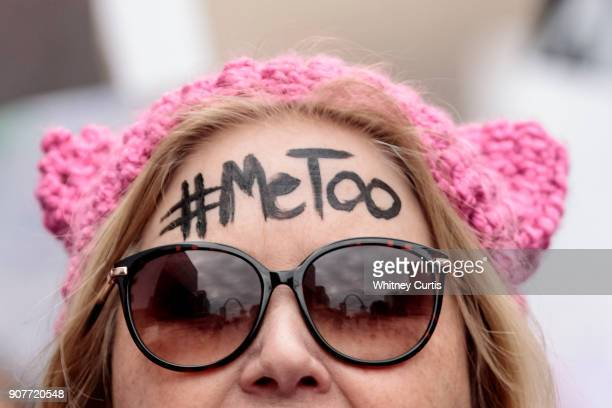 Diana Schmitt participates in the Women's March for Truth on January 20 2018 in St Louis Missouri United States One year after women and their...