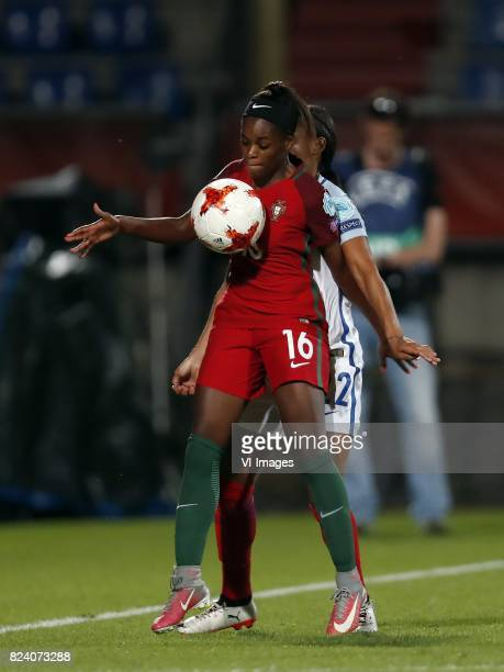 Diana Silva of Portugal women Alex Scott of England women during the UEFA WEURO 2017 Group D group stage match between Portugal and England at Koning...