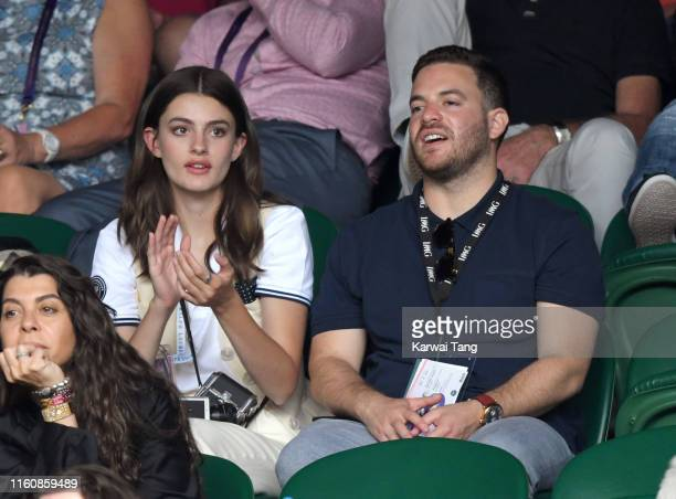 Diana Silvers attends day seven of the Wimbledon Tennis Championships at All England Lawn Tennis and Croquet Club on July 08 2019 in London England