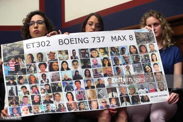 Diana Sotomyor, Hayley Freedman and Deveney Williams, friends of Samya Stumo, who was killed when Ethiopian Airlines FlightET302 crashed in...