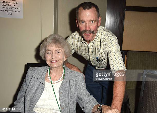 Diana Sowle and Peter Ostrum Poses at The Hollywood Show Day 2 at Westin Los Angeles Airport on July 20 2014 in Los Angeles California