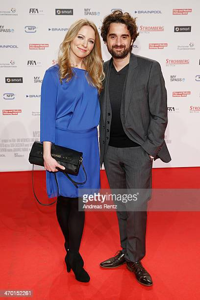 Diana Staehly and Oliver K Wnuk attend the World premiere of Stromberg Der Film at Cinedom Koeln on February 18 2014 in Cologne Germany