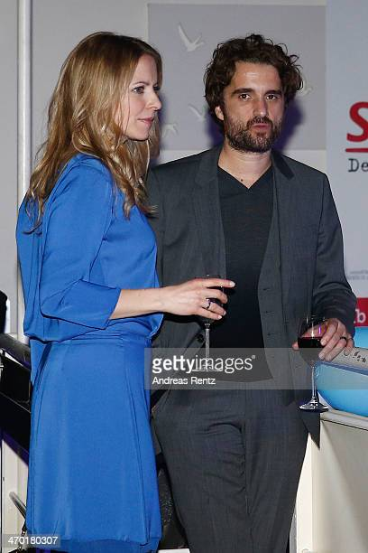 Diana Staehly and Oliver Wnuk attend the after show party to the World premiere of Stromberg Der Film at Diamonds on February 18 2014 in Cologne...