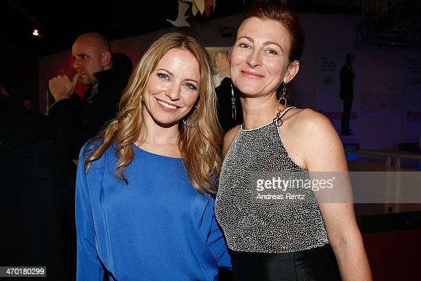 Diana Staehly and Tatjana Alexander attend the after show party to the World premiere of Stromberg Der Film at Diamonds on February 18 2014 in...