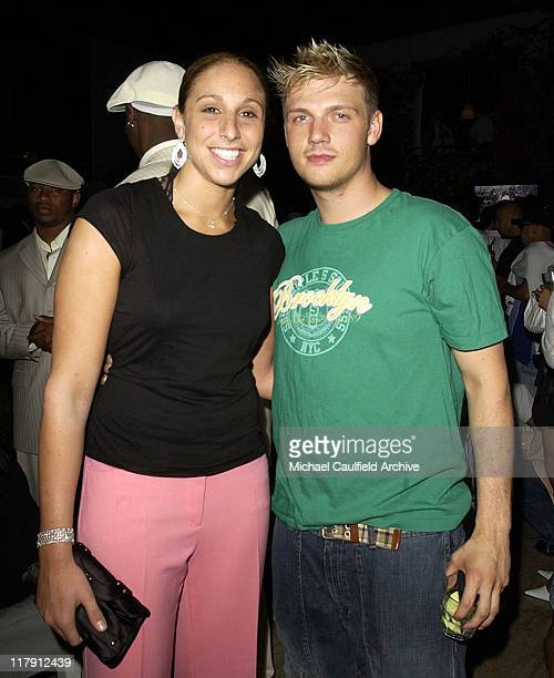 Diana Taurasi and Nick Carter during 2004 ESPY Awards Jamie Foxx After Party at Skybar at The Mondrian in Los Angeles California United States