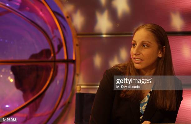 Diana Taurasi first overall pick by the Phoenix Mercury looks during the 2004 WNBA Draft on April 17 2004 in Secaucus New Jersey NOTE TO USER User...