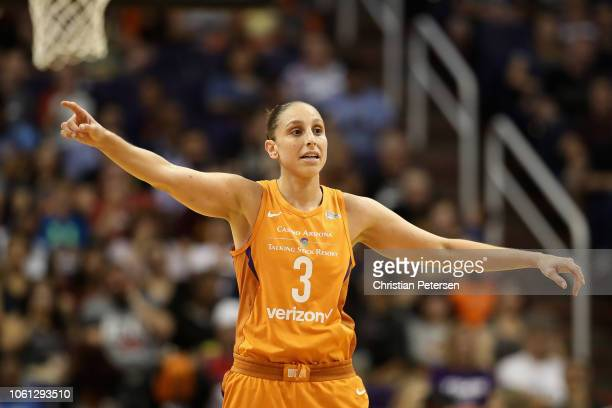 Diana Taurasi of the Phoenix Mercury during game three of the WNBA Western Conference Finals against the Seattle Storm at Talking Stick Resort Arena...