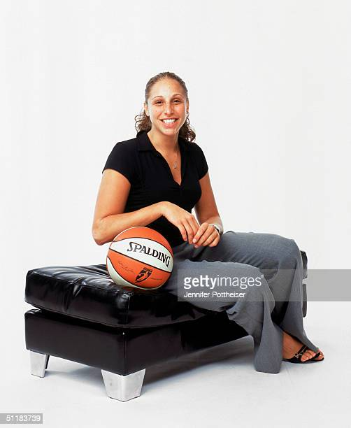 Diana Taurasi of the Phoenix Mercury poses for a WNBA Portrait at Westin Hotel on August 4 2004 in New York New York NOTE TO USER User expressly...