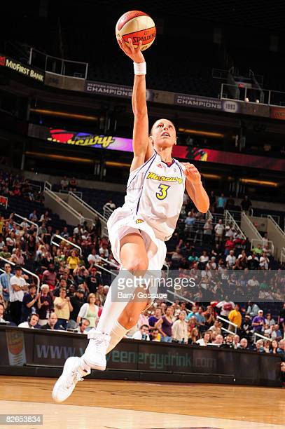Diana Taurasi of the Phoenix Mercury shoots against the Minnesota Lynx at US Airways Center September 3 2008 in Phoenix Arizona NOTE TO USER User...