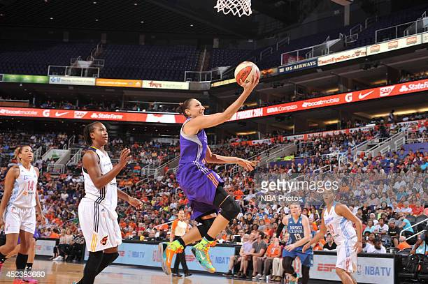 Diana Taurasi of the Western Conference AllStars shoots during the 2014 Boost Mobile WNBA AllStar Game on July 19 2014 at US Airways Center in...