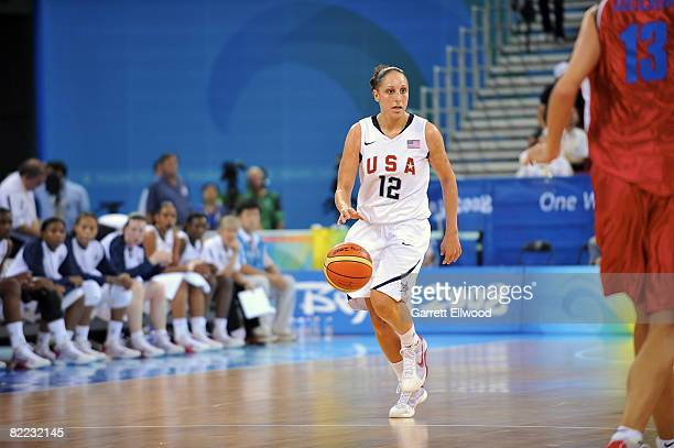 Diana Taurasi of U.S. Women's Senior National Team drives against the Czech Republic during day one of basketball at the 2008 Beijing Summer Olympics...