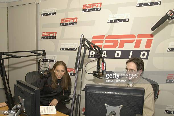 Diana Taurasi visits ESPN radio during a day in New York City on April 15 2004 before the WNBA Draft NOTE TO USER User expressly acknowledges and...