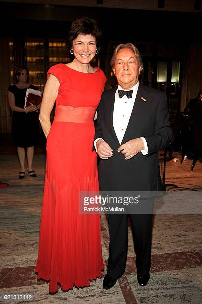 Diana Taylor and Arnold Scaasi attend Literacy Partners Hosts Annual Gala An Evening of Readings Honoring David and Julia Koch at Lincoln Center on...