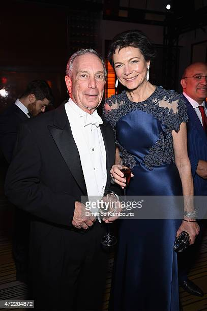 Diana Taylor and Michael Bloomberg attend Michael Kors and iTunes After Party at The Mark Hotel on May 4 2015 in New York City