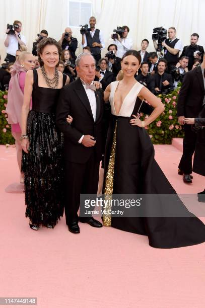 Diana Taylor, Michael Bloomberg and Georgina Bloomberg attend The 2019 Met Gala Celebrating Camp: Notes on Fashion at Metropolitan Museum of Art on...