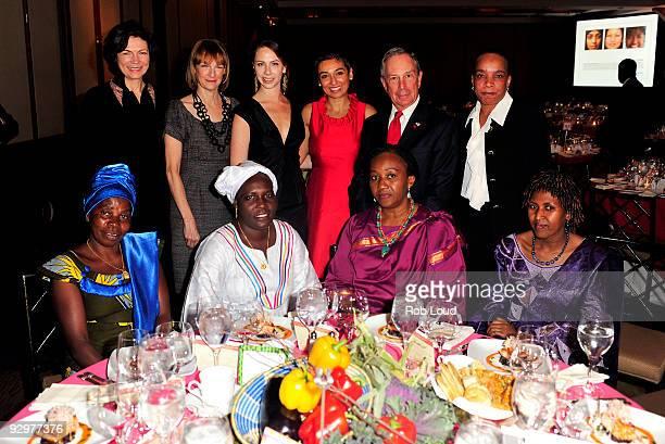 Diana Taylor Patti Harris Barbara Bush Women for Women International founder Zainab Salbi New York City Mayor Michael Bloomberg Berra Kabarungi of...