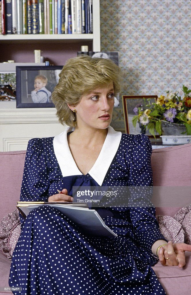 Diana At Home In Kensington Palace : News Photo