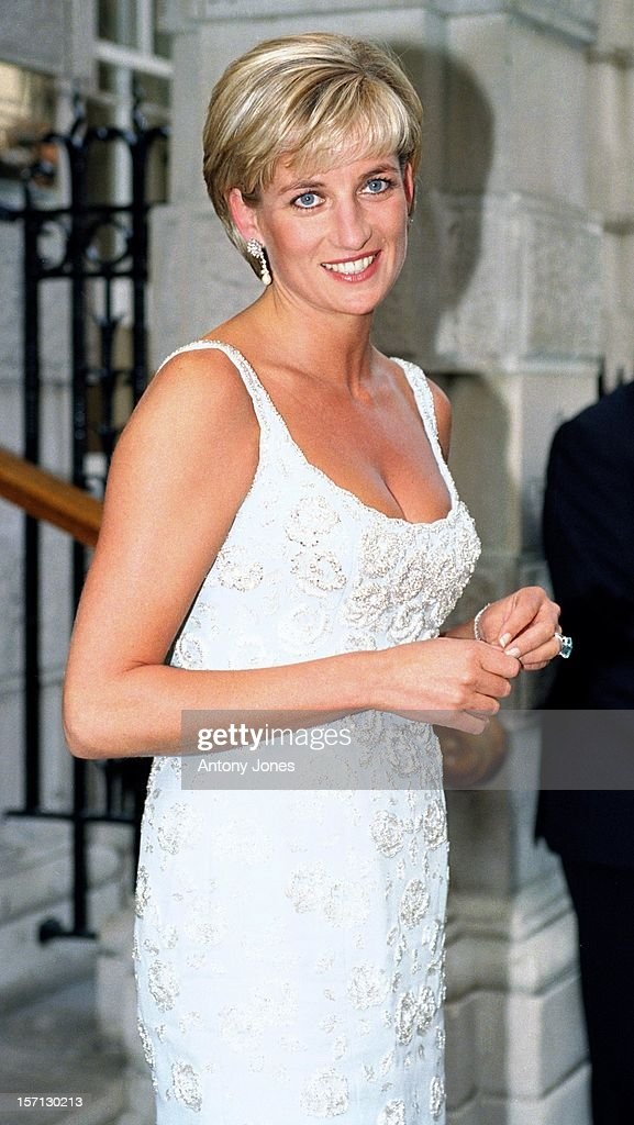 The Princess Of Wales Attends A Gala Reception & Preview Of Her Dresses Auction : News Photo