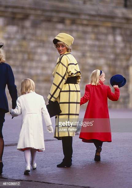 KINGDOM DECEMBER 25 Diana The Princess of Wales attends The Christmas Day Service at St Georges Chapel Windsor Castle on December 25 in Windsor...