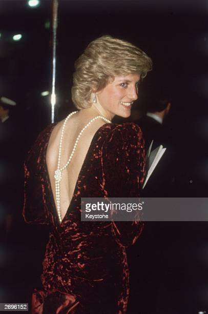 Diana the Princess of Wales attends the film premiere of 'Back To The Future'