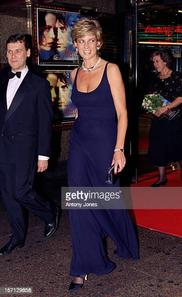 Diana, The Princess Of Wales Attends The 'Haunted' Premiere In London.