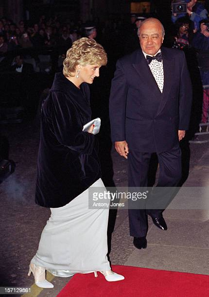 Diana, The Princess Of Wales & Mohamed Al Fayed Attend A Charity Gala Dinner At Harrods.