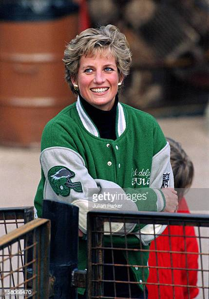 Diana The Princess Of Wales Prince William Prince Harry At Alton Towers Theme Park