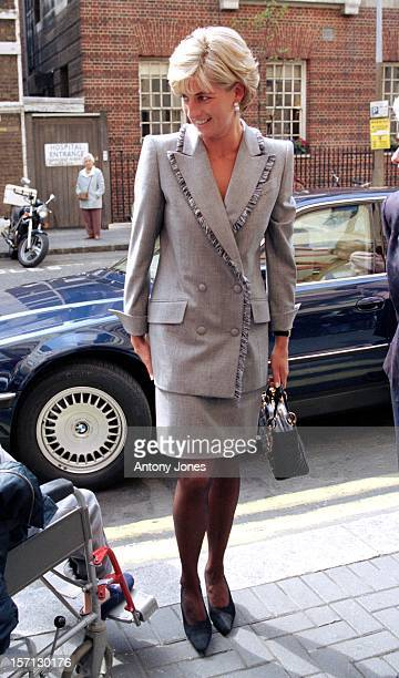 Diana, The Princess Of Wales Visits St. Mary'S Hospital In Paddington.