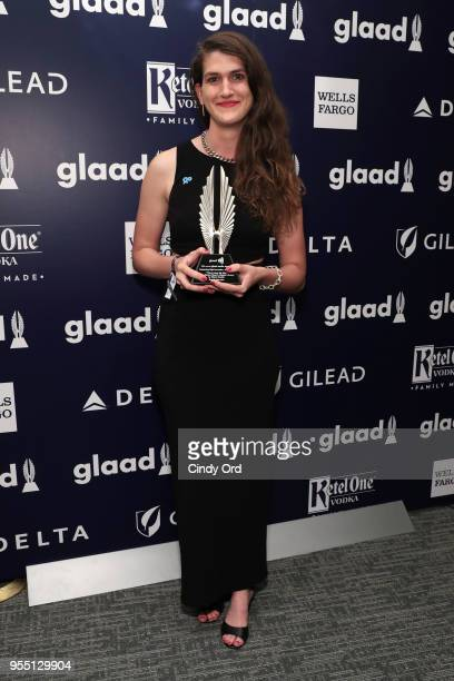 Diana Tourjee recipient of the Outstanding Digital Journalism Award attends the 29th Annual GLAAD Media Awards at The Hilton Midtown on May 5 2018 in...