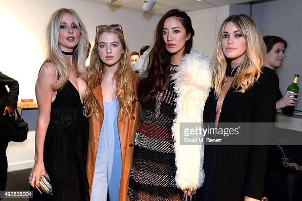 Diana Vickers Anais Gallagher Betty Bachz and Kara Rose Marshall attend as Meg Mathews and Baker Street Boys launch The Line collection exhibition at...