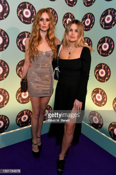 Diana Vickers and Kara Rose Marshall attend the Universal Music BRIT Awards afterparty 2020 hosted by Soho House PATRON at The Ned on February 18...