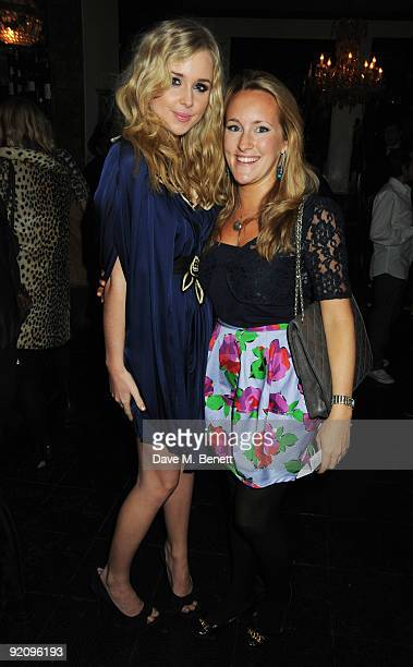 Diana Vickers and Katie Banks attend the afterparty following the press night of The Rise And Fall Of Little Voice at Jewell on October 20 2009 in...