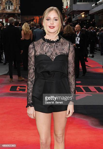 Diana Vickers attends the European premiere of 'Godzilla' at Odeon Leicester Square on May 11 2014 in London England