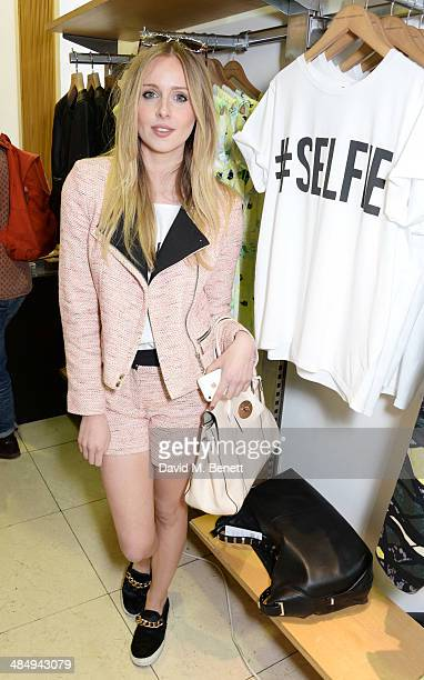 Diana Vickers attends the French Connection #CantHelpMySelfie launch party at French Connection Regent Street store on April 15 2014 in London England