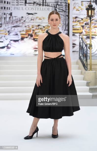 Diana Vickers attends the Paul Costelloe Presentation during London Fashion Week February 2020 at the The Waldorf London on February 17 2020 in...